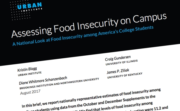 assessing food insecurity on campus