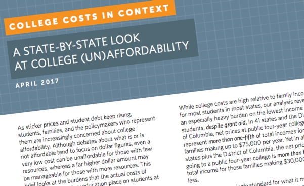 costs in context look at college