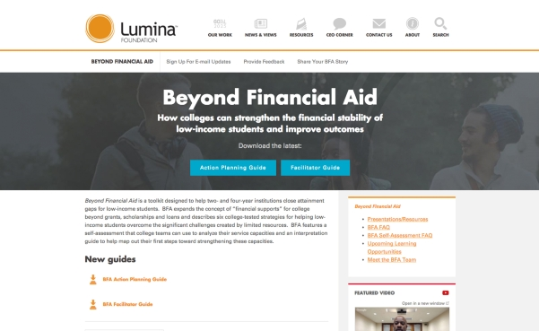 Lumina Foundation's Beyond Financial Aid Guidebook